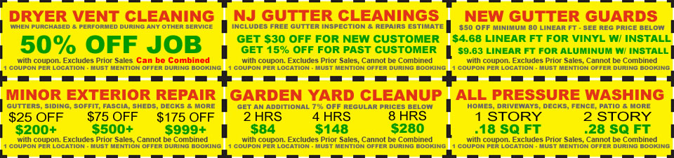 CLEANUP SERVICE SPECIALS